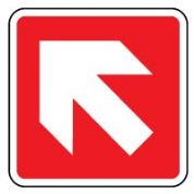 Fire Safety Sign - Fire Arrow 45 left 009